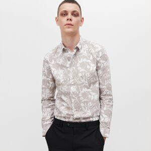 Reserved - Vzorovaná košile slim fit - Šedá