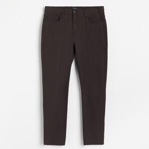 Reserved - Bavlněné kalhoty slim - Bordó