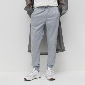 Reserved - Formální kalhoty JOGGER - Světle šedá