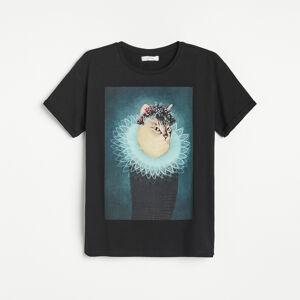 Reserved - Ladies` t-shirt - Černý