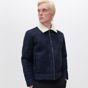 Reserved - Klasická bunda sberánkem - Tmavomodrá