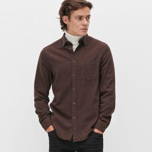Reserved - Bavlněná košile regular fit - Hnědá