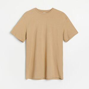 Reserved - Hladké tričko zorganické bavlny - Béžová