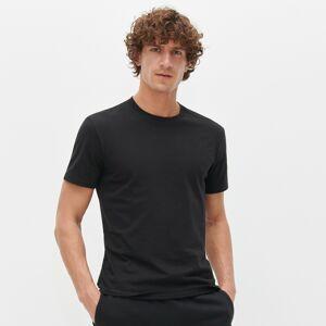 Reserved - Hladké tričko zorganické bavlny - Černý
