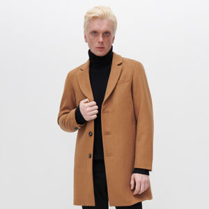 Reserved - Elegantní kabát s vlnou - Béžová