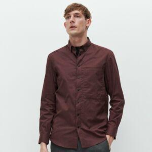 Reserved - Hladká košile regular fit - Bordó