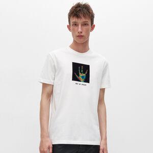 Reserved - Tričko s potiskem a nápisem - Krémová