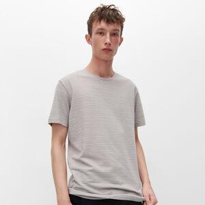 Reserved - Tričko ze strukturovaného žerzeje - Světle šedá