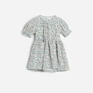 Reserved - Květované šaty - Tyrkysová