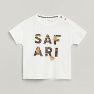 Reserved - Bavlněné tričko se střapci - Krémová