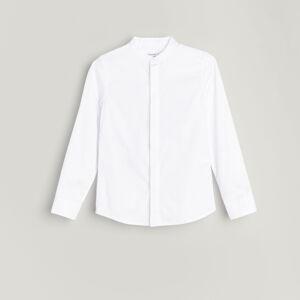 Reserved - Bavlněná košile se stojáčkem - Bílá
