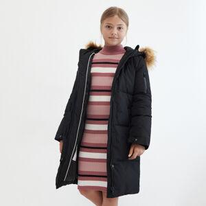 Reserved - Péřový kabát s kapucí - Černý