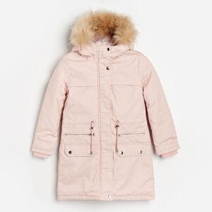 Reserved - Zateplený kabát - Růžová