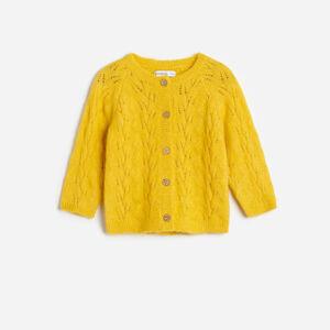 Reserved - Ažurový kardigan - Žlutá