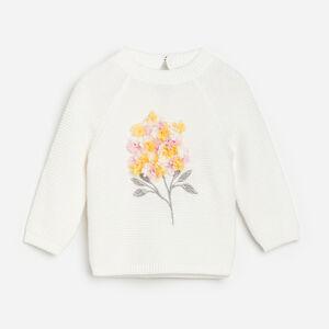 Reserved - Bavlněný svetr saplikací - Krémová