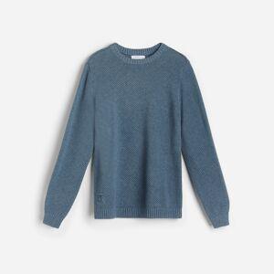 Reserved - Svetr z organické bavlny - Modrá
