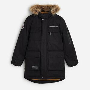 Reserved - Zateplená bunda skapucí - Černý