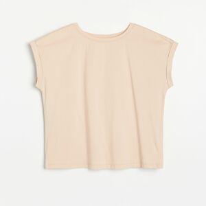 Reserved - Ladies` t-shirt - Béžová