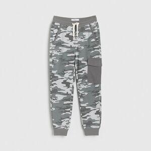 Reserved - Teplákové kalhoty moro - Světle šedá