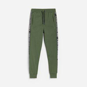 Reserved - Teplákové kalhoty s pruhy - Khaki