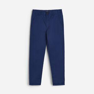 Reserved - Bavlněné kalhoty chino - Tmavomodrá