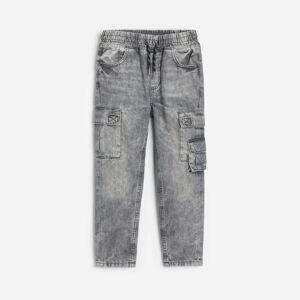 Reserved - Kalhoty joggers svysokým podílem bavlny - Světle šedá