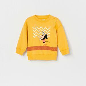 Reserved - Bavlněná mikina Mickey Mouse - Žlutá