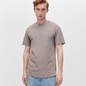 Reserved - Tričko ze strukturovaného žerzeje - Šedá