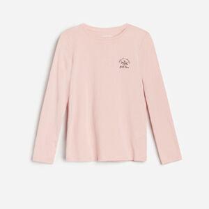 Reserved - Bavlněné tričko s nápisem - Růžová