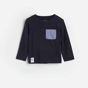 Reserved - Bavlněné tričko skapsou - Tmavomodrá