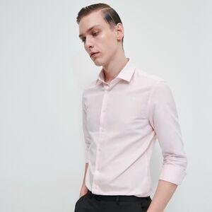 Reserved - Košile svysokým podílem egyptské bavlny apříměsí lnu - Růžová
