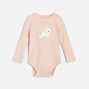 Reserved - Body svysokým podílem bavlny akráličím motivem - Růžová