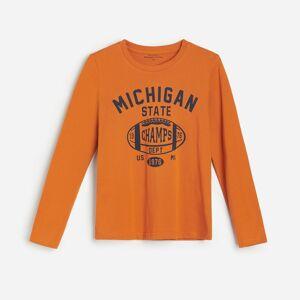 Reserved - Bavlněná košilka s potiskem - Oranžová