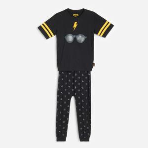 Reserved - Bavlněná pyžamová souprava Harry Potter - Černý