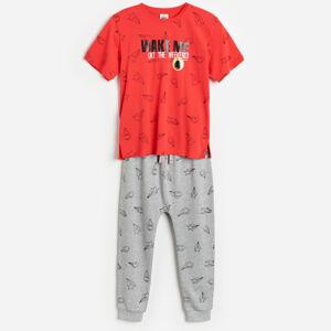 Reserved - Bavlněná pyžamová souprava SmileyWorld® - Červená