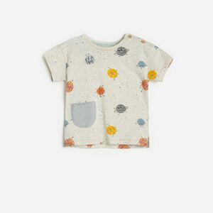Reserved - Tričko se zapínáním na ramenou - Krémová