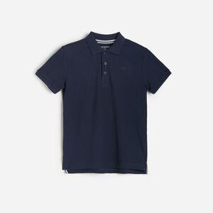 Reserved - Bavlněné polo tričko - Tmavomodrá