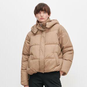 Reserved - Zateplená bunda s kapucí - Béžová