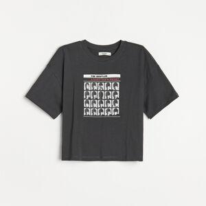 Reserved - Bavlněné tričko - Šedá