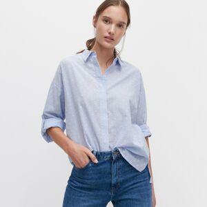 Reserved - Košile se strukturovaným vzorem - Modrá