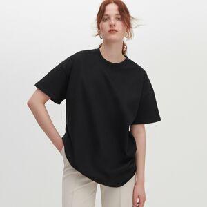Reserved - Tričko oversized svysokým podílem organické bavlny - Černý
