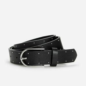 Reserved - Pásek s ozdobnými kamínky - Černý