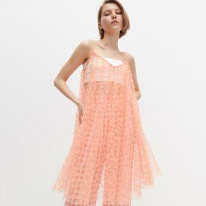 Reserved - Poloprůsvitné šaty skvětinovým vzorem -