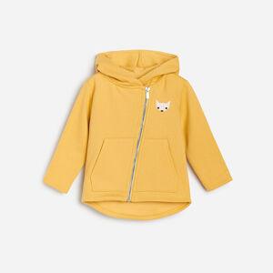 Reserved - Teplý svetr skapucí - Žlutá