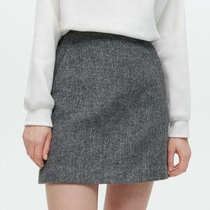 Reserved - Ladies` skirt - Šedá