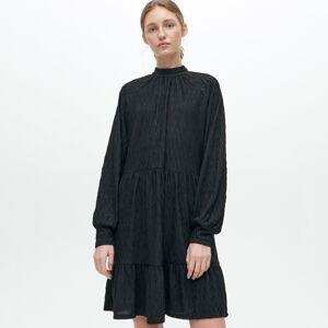 Reserved - Šaty s volánem - Černý