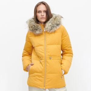 Reserved - Zateplená bunda sumělou kožešinou - Žlutá