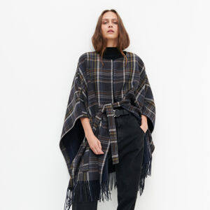 Reserved - Kabát ve stylu ponča svysokým podílem vlny - Vícebarevná