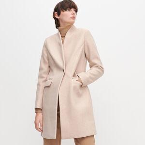 Reserved - Hladký kabát - Béžová