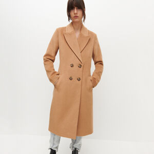 Reserved - Dámský kabát - Béžová